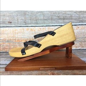 J.Crew Made In Italy Wooden Platform Sandals